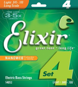 Elixir Nanoweb Electric Bass Strings