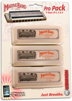 Hohner Marine Band 1896 Harmonica Pack