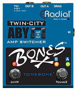 Radial Twin City Bones ABY Pedal