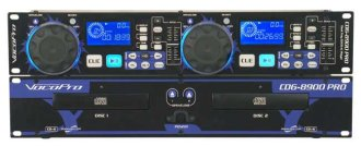 VocoPro CDG-8900 PRO Dual CD/CD+G Player
