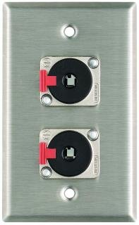 Pro Co WP1007 Wall Plate w 2 TRSF