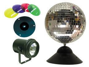 American DJ MB8 Combo Mirror Ball Pack