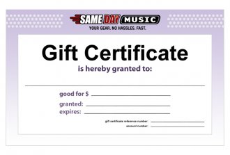 SameDayMusic Gift Certificate