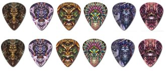 Clayton Bolt Guitar Picks, 12 Pack
