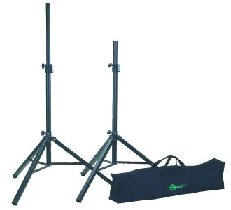K&M Safe Lock Speaker Stands with Bag