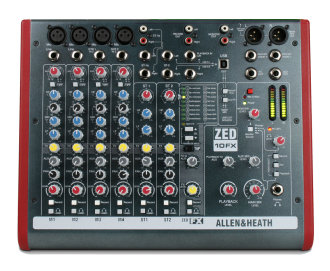Allen and Heath ZED-10FX Mixer with USB
