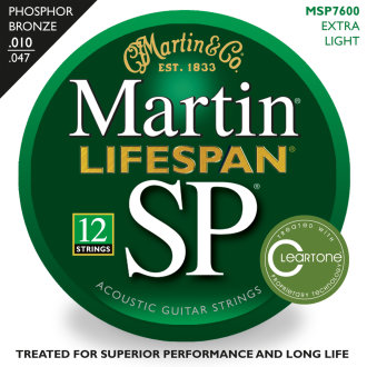 Martin SP Lifespan 12 Guitar Strings