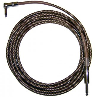 CBI Tweed Braided Cable with Right Angle