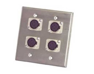 Pro Co WP2035 Wall Plate with 4 XLRF