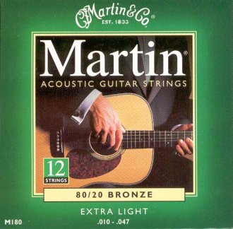 Martin M180 12-String 80/20 Strings