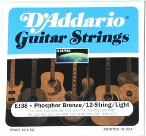 D'Addario 12-String Acoustic Strings