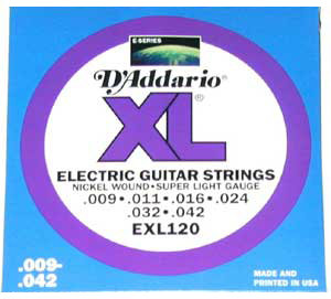 D'Addario EXL120 XL Guitar Strings
