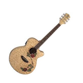 Luna Flora Rose Acoustic-Electric Guitar