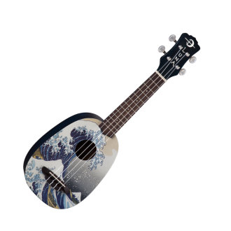 Luna UKEGWS Great Wave Soprano Ukulele