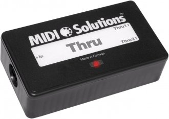 MIDI Solutions Thru 2-Out MIDI Thru Box