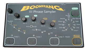 Boomerang 3 Phrase Sampler Looper Pedal